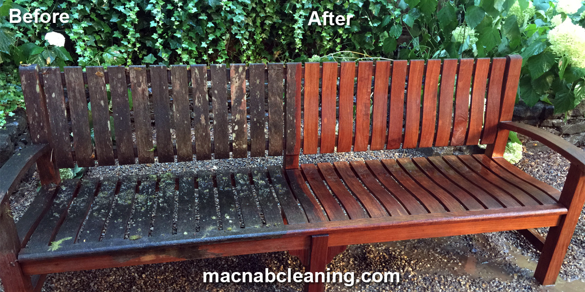 outdoor furniture cleaning before and after macnab exterior cleaning