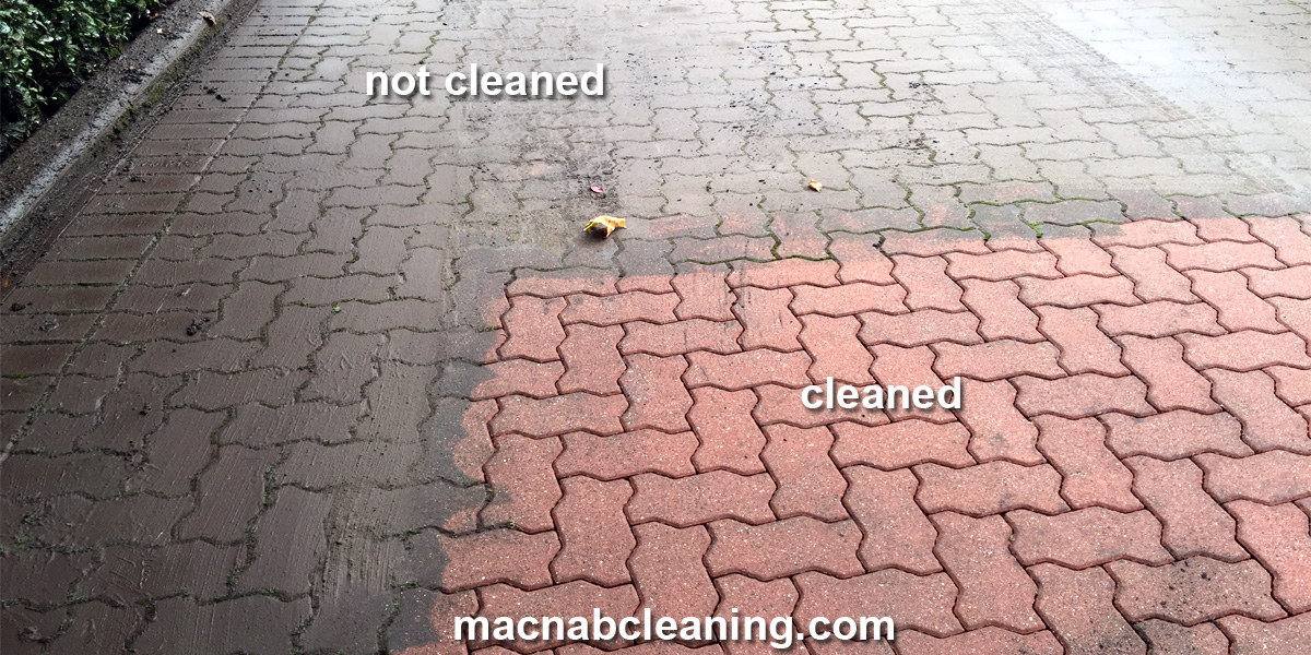 interlock brick before and after macnab exterior cleaning