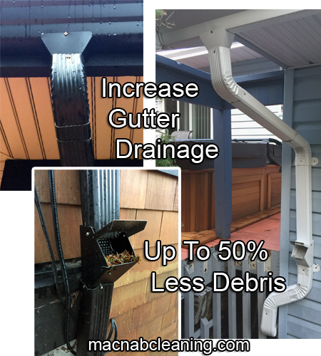 Gutter Cleaning Downspout Upgrade Wide Mouth Funnel Leaf Catcher Install