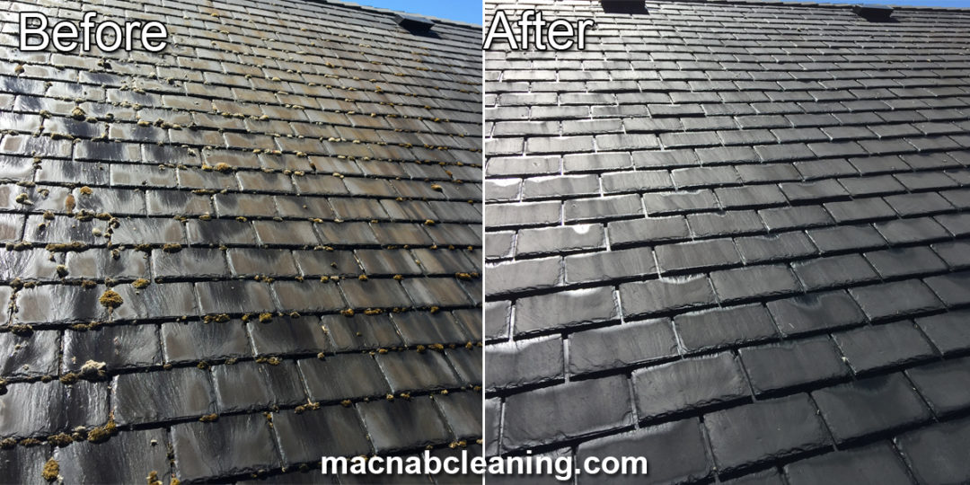 Demossing Slate Roof Mt. Douglas BC