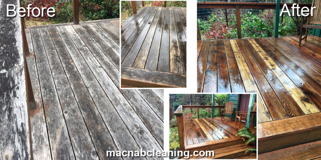 Cedar Deck Cleaning Shawnigan Lake