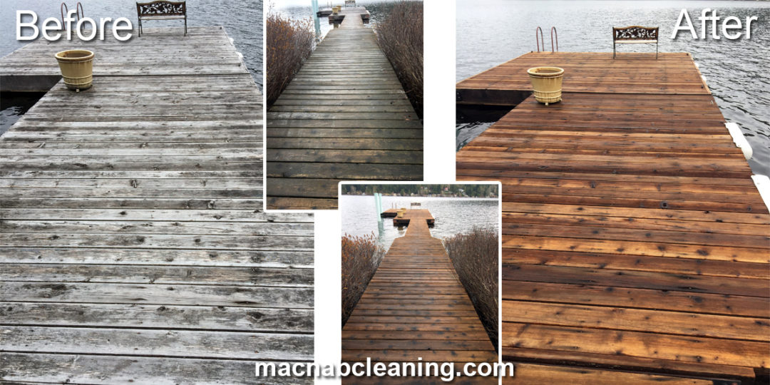 Dock Pressure Washing Cleaning Shawnigan Lake
