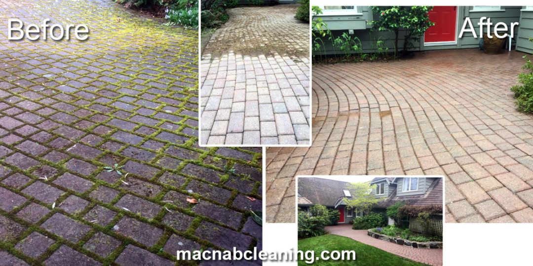 Before And After Macnab Exterior Cleaning And Moss Removal