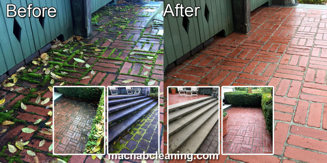 Brick Paver Patio Cleaning Deep Cove